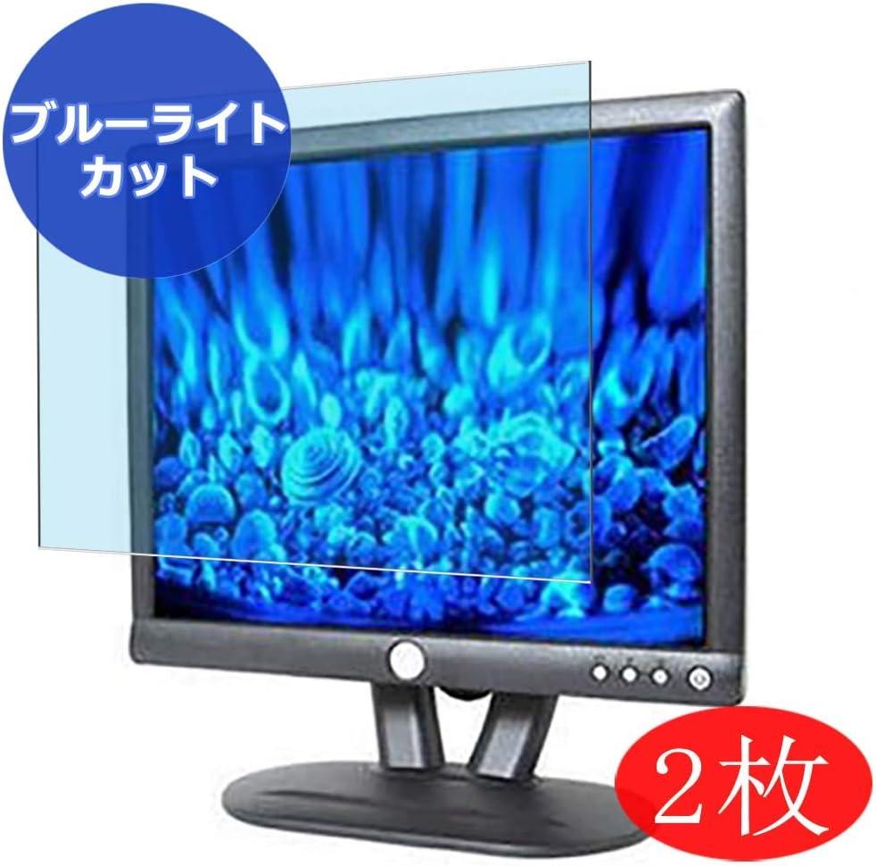 "?2 Pack? Synvy Anti Blue Light Screen Protector compatible with Dell E173 / E173FP / E173FPB / E173FPC / E173FPF / E173FPS 17"" Display Monitor Anti Glare Screen Film Protective Protectors [Not Tempered Glass]"