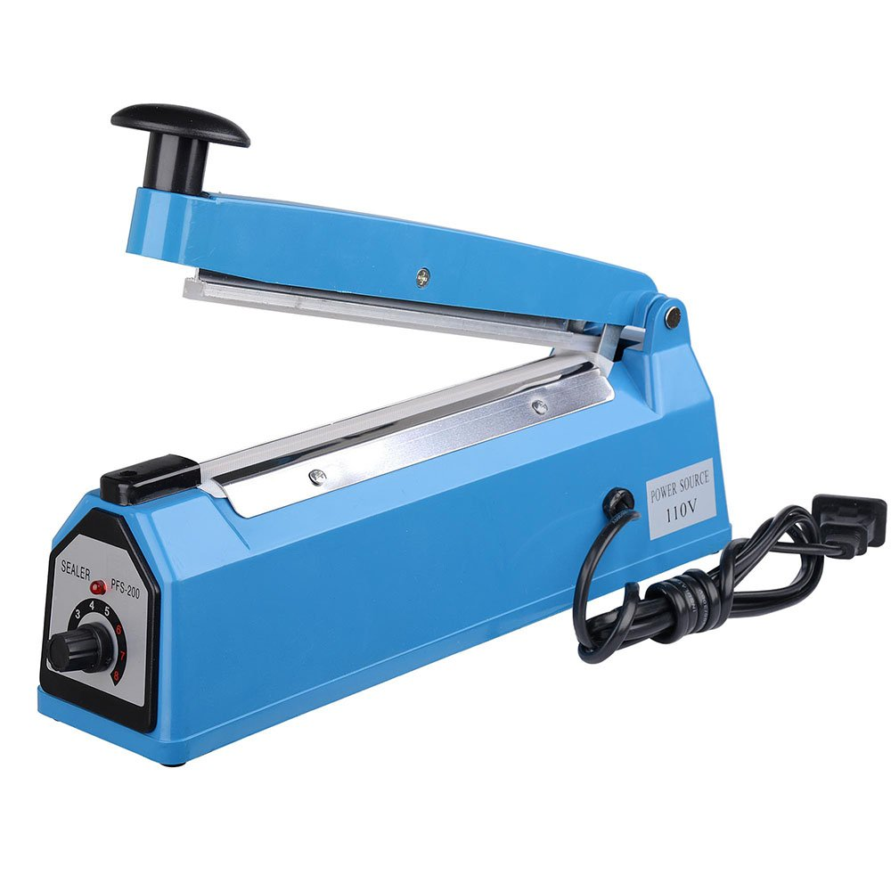 Yescom 8'' 200mm Impulse Manual Hand Sealer Heat Sealing Machine Poly Tubing Plastic Bag by Yescom (Image #2)