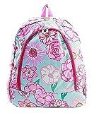 Flower Canvas Backpack Handbag (Pink)