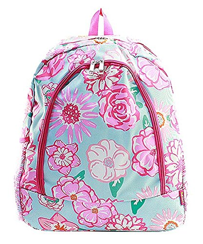 Flower Canvas Backpack Handbag (Pink) by Handbag Inc