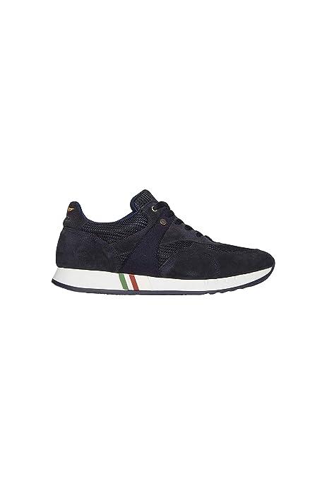Aeronáutica Militar Zapatos Sneakers SC159CT Azul Negro, Ante ...