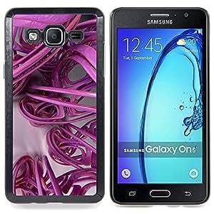 Stuss Case / Funda Carcasa protectora - Arte 3D líneas abstractas de plástico - Samsung Galaxy On5 O5