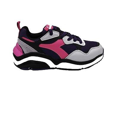 Diadora WHIZZ Run Wn Sneakers Grigio Viola Rosa 175535 C8220