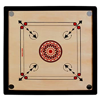 Neetu Sports Superior Matte Finish Club Carrom Board for Professionals Clubs with Coins Striker and Boric Powder, ( Size 32 Inch) 4 MM Ply
