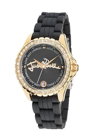 Just Cavalli R7251167825 - Reloj de mujer de cuarzo, correa de goma color negro