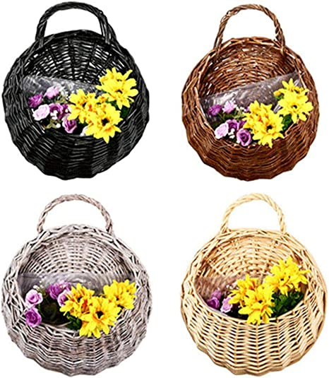 Birds Nest Wall Hanging Flower Basket Wicker Gardening Home Wedding Decoration