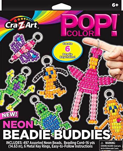 Cra-Z-Art Pop Color Neon Beadie Buddies Medium Box