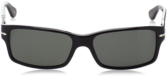 Amazon.com: Persol PO 2803S anteojos de sol, negro, 58/16 ...