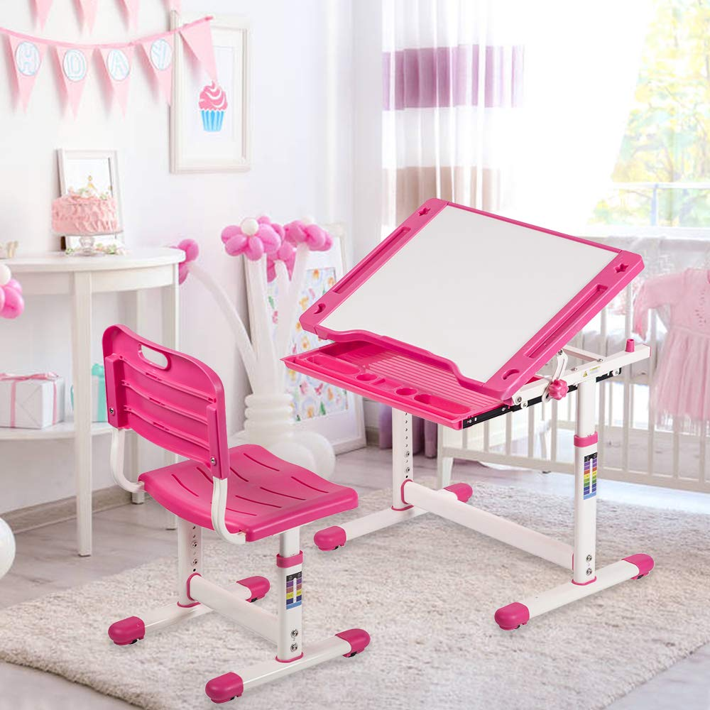 XXFBag Children Desk and Chair Set for Girls