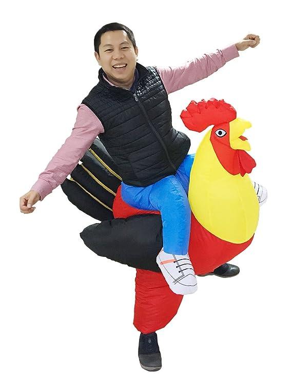 Amazon.com: luckysun adulto Pollo gallo hinchable Costume ...