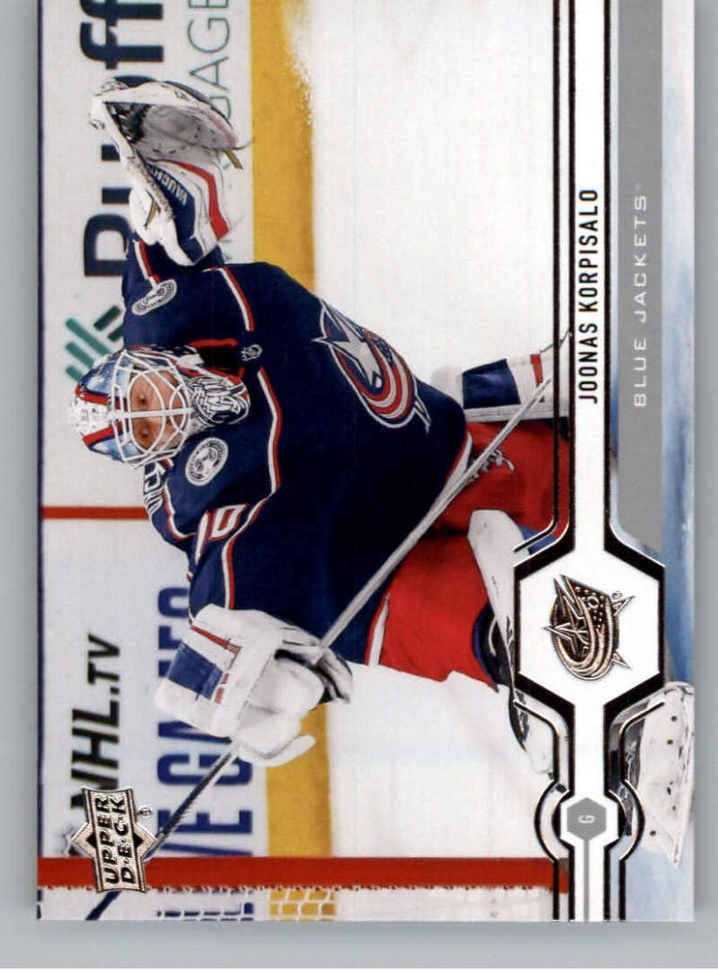 2019-20 Upper Deck Hockey #317 Joonas Korpisalo Columbus Blue Jackets Official Series Two Trading Card From UD