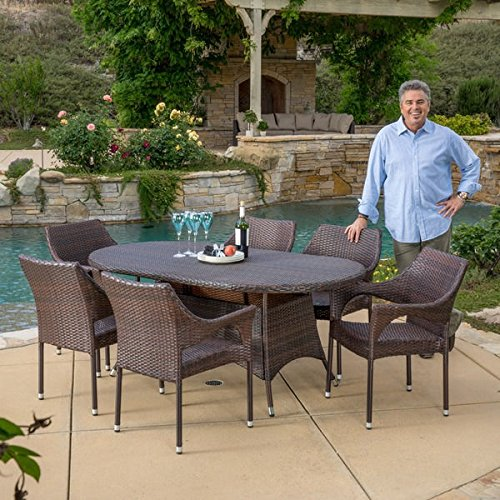 Christopher Knight Home Corsica Outdoor Wicker Oval Dining Table