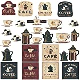 Kitchen Decor Stickers Coffee House, Bakery Shop, Cafeteria, Lounge Room, Kitchen Wall Sticker Decor Decal Decoration