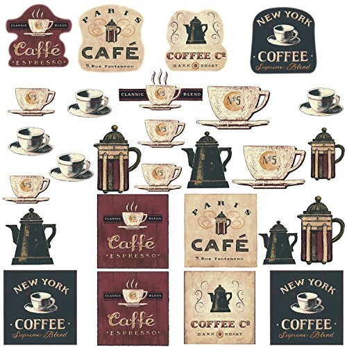 Coffee House Bakery Shop Cafeteria Lounge Room Kitchen Wall Sticker Decor Decal Decoration