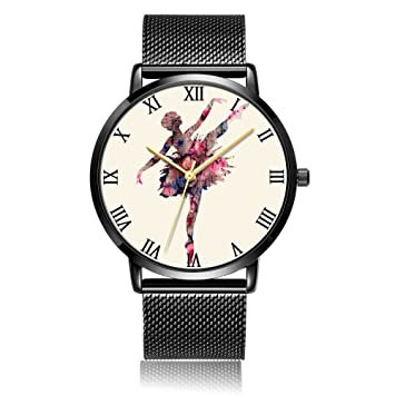 [kosung] Ballet arte reloj de pulsera, personalizado unisex resistente al agua reloj con mecanismo de cuarzo ...