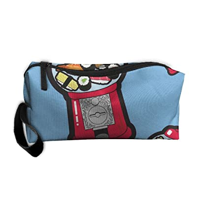 Bolsa de bolsas de cosméticos cepillo Kawaii Sushi de Gumball (6007) portátil bolsa de