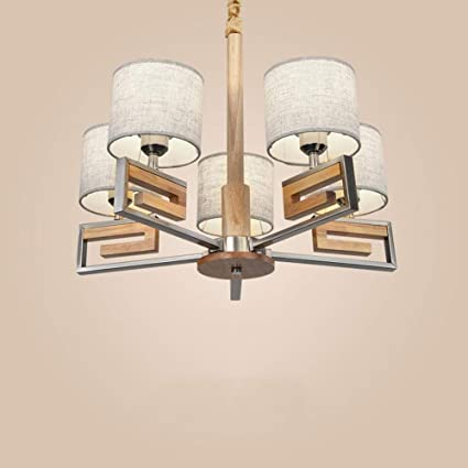 DEED Lámparas de araña de Techo Lámparas de Madera Modernas ...