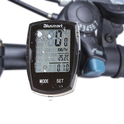 80 opinioni per Computer da Bicicletta, Blusmart wireless ciclocomputer impermeabile sveglia