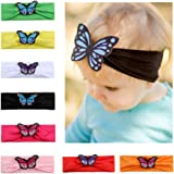 Great for Baby Shower,Birthday Christening Gift#11 MUUZONING 9PCS Cute Baby Girls//Boys Headband Set Elastic Turban Head Dress Hair Bow Hair Wraps Hairbands For Toddler Kids Photography,Costume,Party