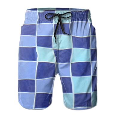8810a0d9c8 Beachsite refraction Swimming Pool Men's/Boys Casual Quick-Drying Bath  Suits Elastic Waist Beach