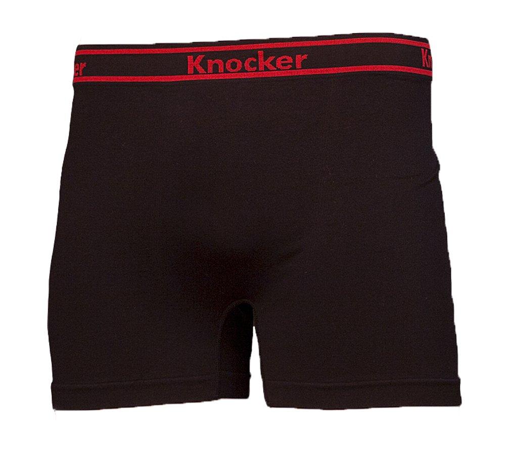 Knocker Men's Seamless Athletic Boxer Briefs Underwear 6 Pk