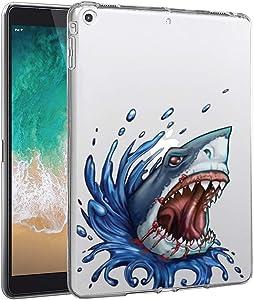 Feloowse iPad Mini 4 Case, Personalized Design Sea Shark Pattern, UV Printed Flexible Protective Cover for iPad Mini 4-Clear