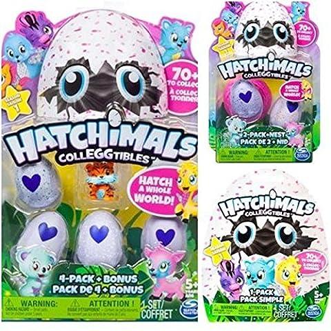 Hatchimals Colleggtibles Season 1 4-pack + bonus, 2-pack + nest, 1 blind SET (random assortment) - Collectibles