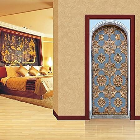 Yelilad Pegatinas Puertas Adhesivo Interiores 3D Imperial Palace ...
