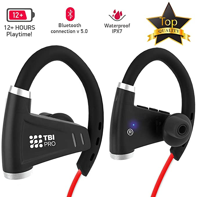 6a7a8c671d3 Bluetooth Headphones w/ 12+ Hours Battery - Best Workout Wireless Sport  Earphones w/