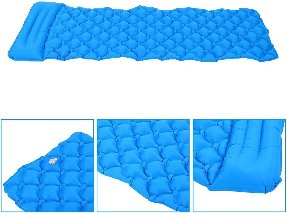 Automatische Aufblasbare Schlafmatte,Outdoor Aufblasbare Matratze Camping Isomatte Kleines Packma/ß f/ür Camping Reise Outdoor Wandern Strand mit Kissen und Aufbewahrungstasche-190 cm lang L-blau
