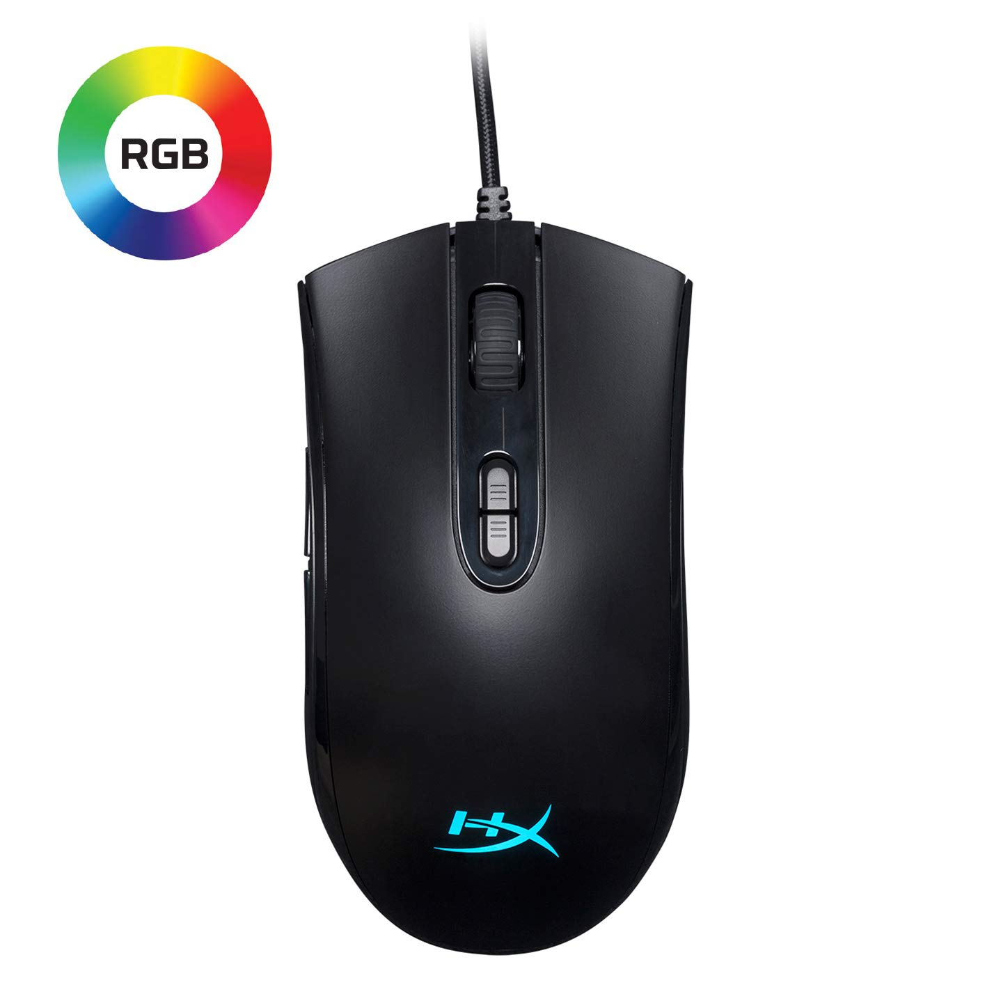 HyperX Pulsefire Core – RGB Gaming Mouse, Software Controlled RGB Light Effects Macro Customization, Pixart 3327 Sensor up to 6,200DPI, 7 Programmable Buttons, Mouse Weight 87g HX-MC004B