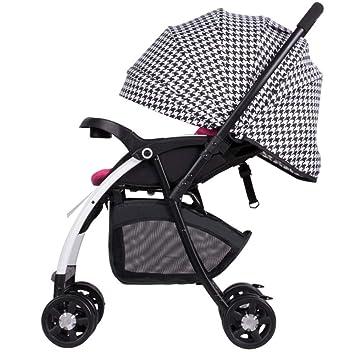 QILEGN Carrito de bebé El Cochecito de bebé del Carro de bebé, Carretilla del Amortiguador de Choque del niño, Puede Sentarse reclinando la Bici Plegable ...