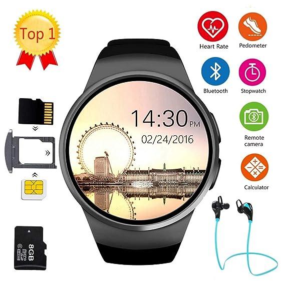 Amazon.com: LEMFO KW18 Bluetooth Smart Watch Full Screen ...