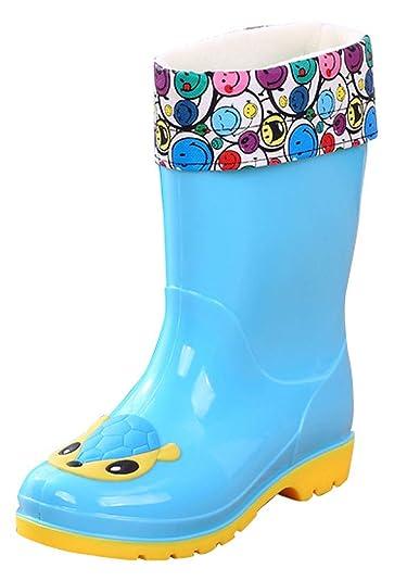 girls lined rain boots