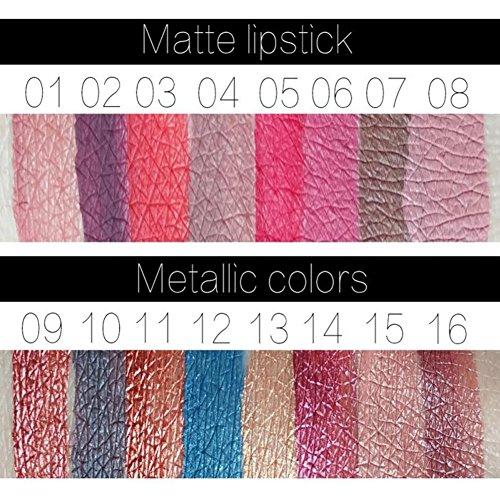 Hosaire 12 Colores Impermeable Mate Brillo De Labios Pintalabios Maquillaje Líquido Pintalabios Belleza Brillo De Labios A08