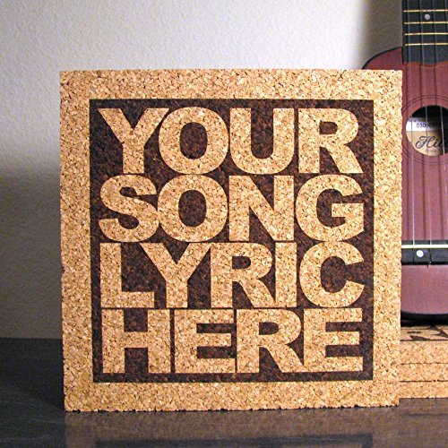 Amazoncom Personalized Cork Lyric Trivet Custom Text Wall - Custom photo trivet