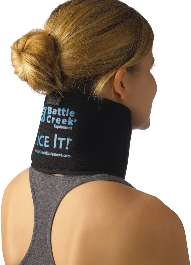 """Cold & Hot Therapy System Ice Pack Wrap - Ice It!® MaxCOMFORT™ (Neck/Jaw/Sinus Design; 4 ½"""" x 10"""") – F30510"""