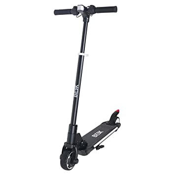 BEBK Patinete Eléctrico Plegable Scooter Plegable Dos Ruedas Monopatín Ajustable En Altura Bicicleta Volante Scooter Adulto