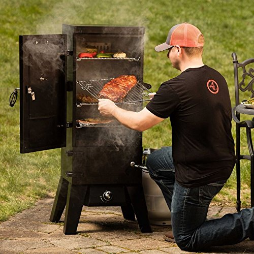 Cuisinart COS-244 Vertical 36'' Propane Smoker, Black by Cuisinart (Image #6)