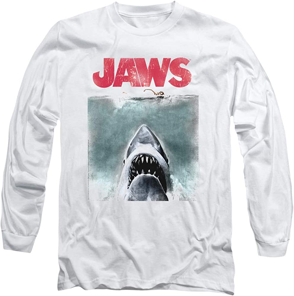 Jaws Shark Movie Poster & Quint Longsleeve T Shirt & Stickers