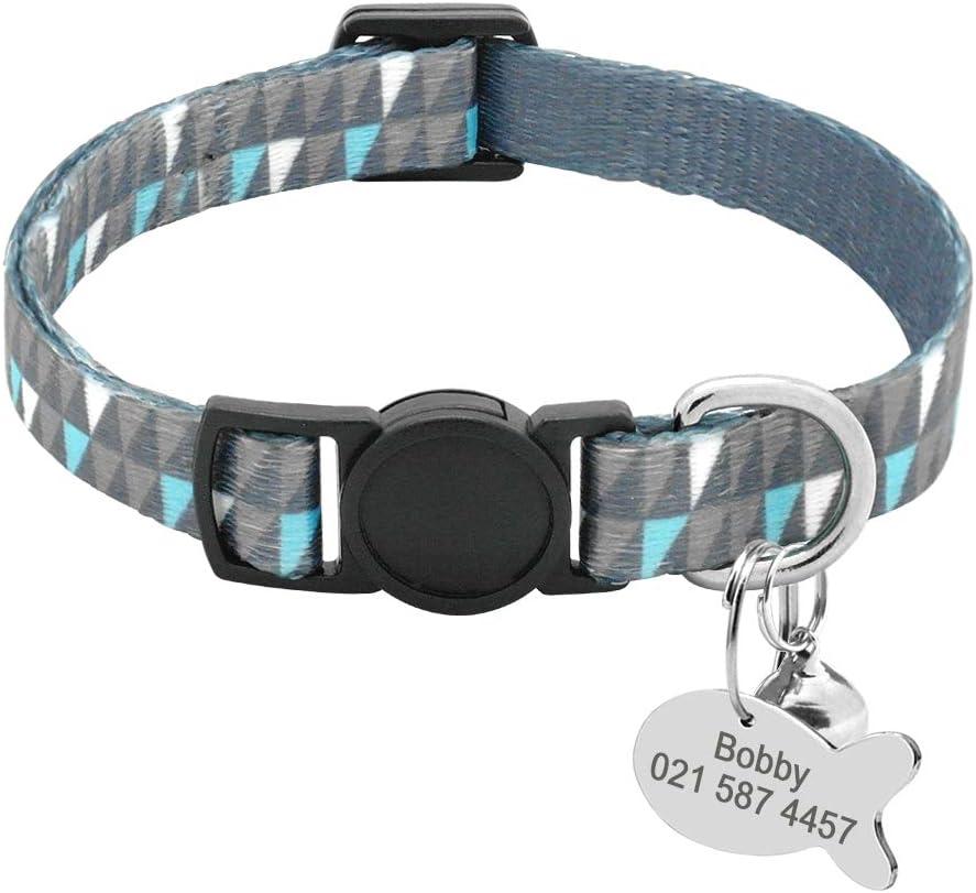 collar personalizado para gatos con chapa