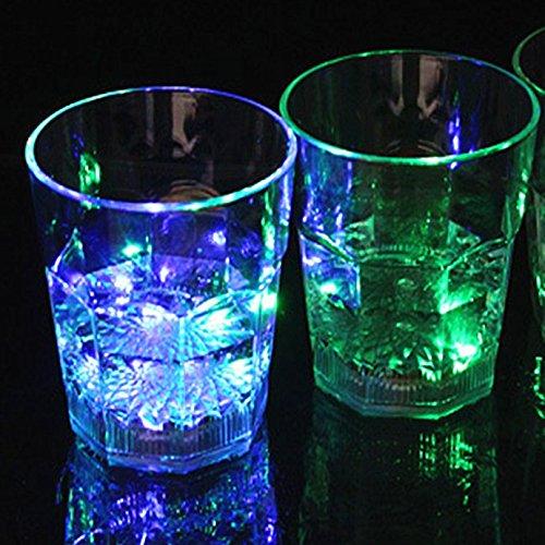 Led Light Up Flashing Wine Glasses - 4