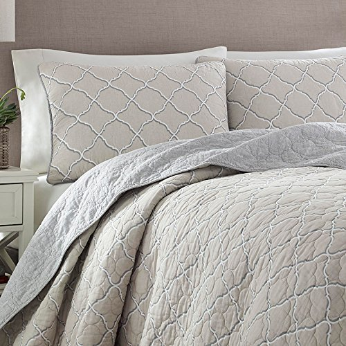 Tommy Bahama Set of 2 Quilted Standard Shams Tranquil TTrail 100/% Cotton Tommy Bahama Home