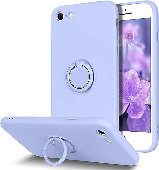 BENTOBEN iPhone SE 2020 Case, iPhone 8 Case, iPhone 7 Case, Slim Silicone | 360° Ring Holder Kickstand | Support Car Mount | Soft Rubber Hybrid Hard ...