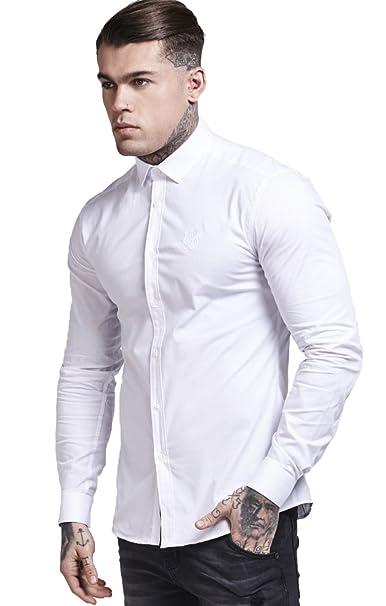 Sik Silk De Algodón del Estiramiento Camisa XS White: Amazon.es: Ropa y accesorios