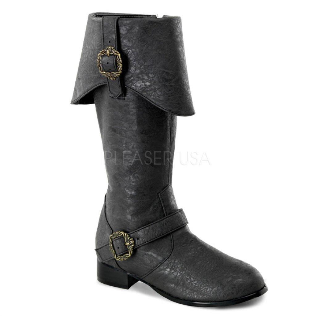 Children\'s Funtasma 1 Inch Heel, Pirate Brown Distressed Knee Boots