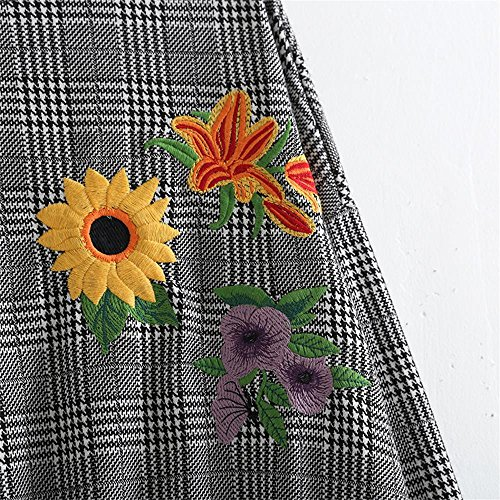 Jersey Flor de de OMAS Las Mujeres Las la del Sudaderas Mujeres Bordadas para clásicas X8qq0IS