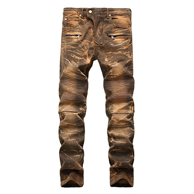 Distressed Fit Funky es Fit Hombre Hombre Ropa Destroyed vaqueros Jeans Casual Jeans Straight Leg 2018 Amazon Ripped y Vintage Washed Skinny Fashion qxEHqg6Z