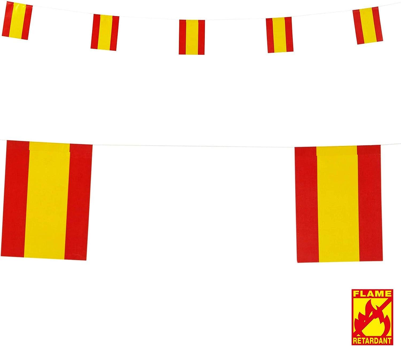 WIDMANN Guirnalda Bandera España 6 m: Amazon.es: Juguetes y juegos