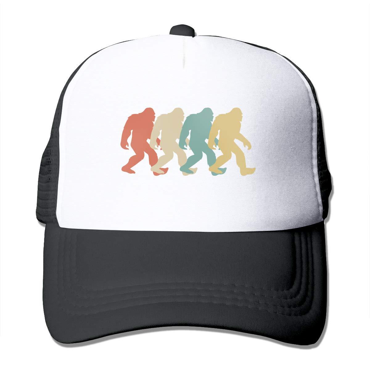 Adult Trucker Hat Retro Bigfoot Sasquatch Custom Mesh Caps